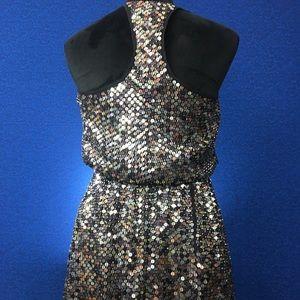 Super Sequined Racerback Parker Party Dress